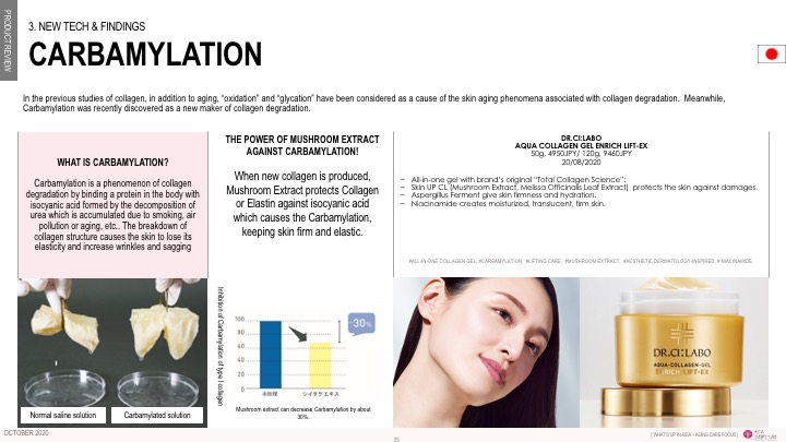 Asia Cosme Lab Aging care report slide 1