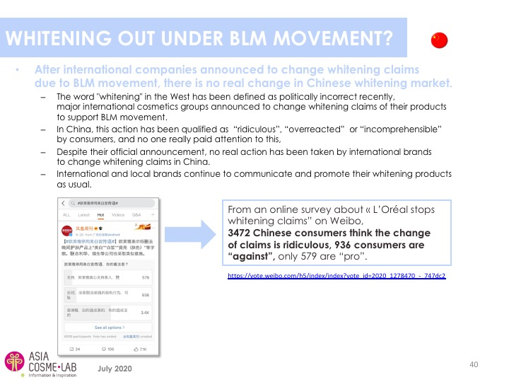 Asia Cosme Lab Whitening in 2020 trend report extract 2