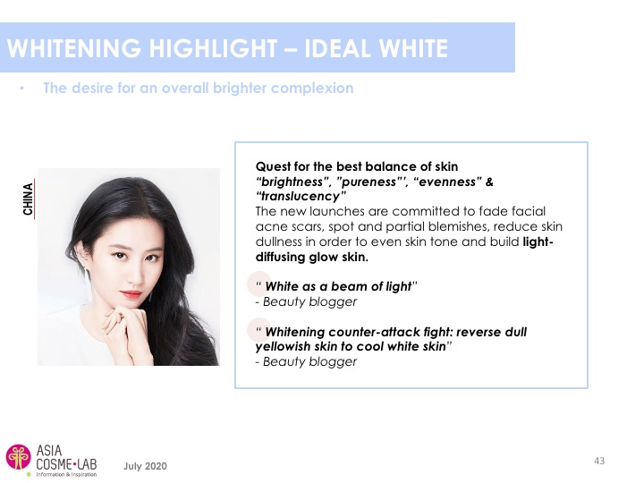 Asia Cosme Lab Whitening in 2020 trend report extract 5