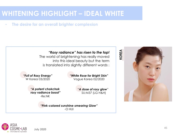 Asia Cosme Lab Whitening in 2020 trend report extract 7