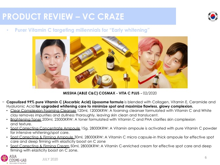 Asia Cosme Lab Whitening in 2020 trend report extract 11