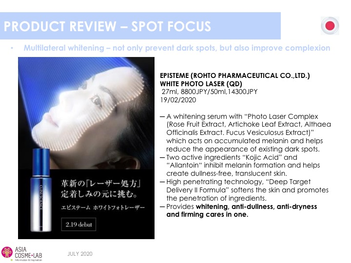 Asia Cosme Lab Whitening in 2020 trend report extract 12