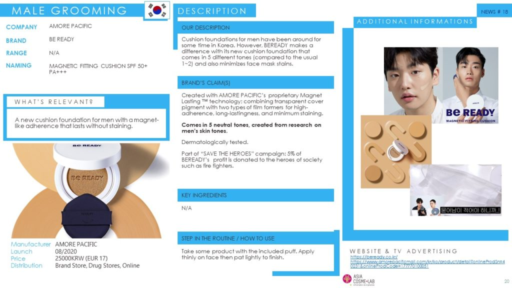 Innovation News - Asia Cosme Lab - male