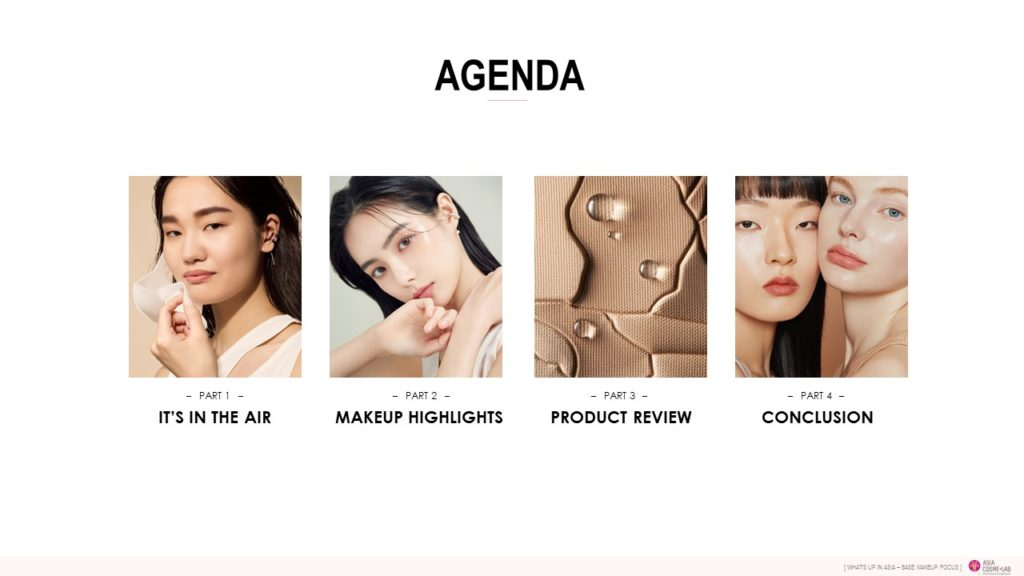 WHAT'S UP IN ASIA - AW 2020 BASE MAKE agenda