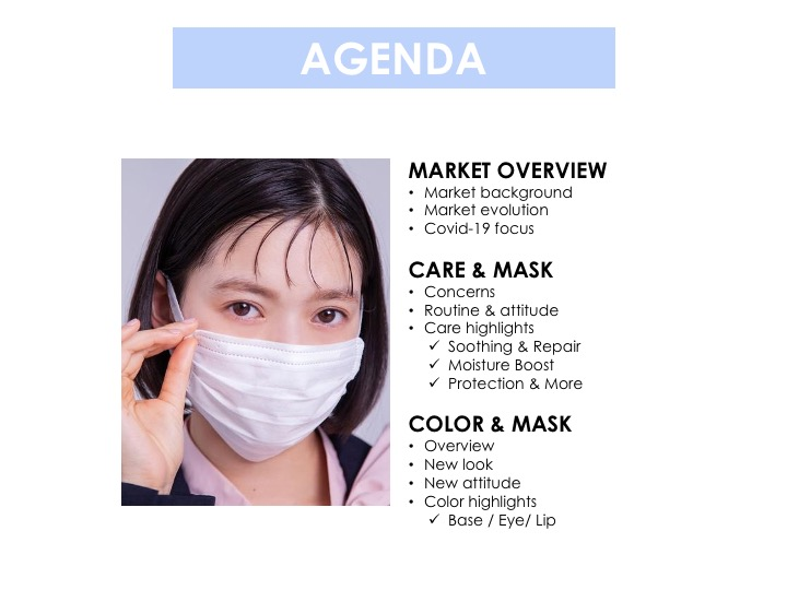 Asia Cosme Lab Never without my mask Trend report Agenda