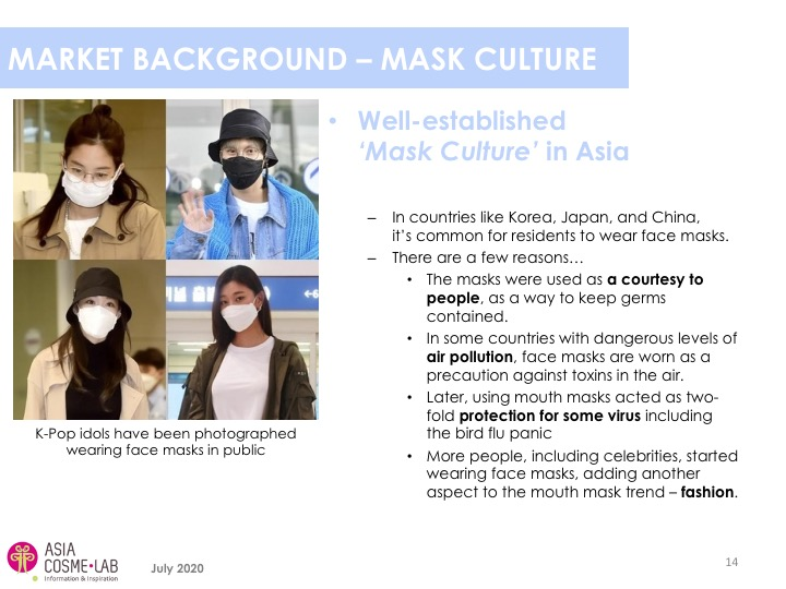 Asia Cosme Lab Never without my mask Trend report extract 1