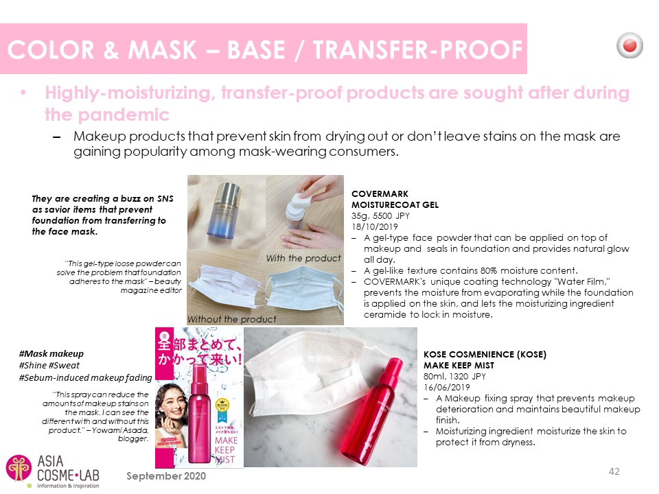 Asia Cosme Lab Face mask focus report extract 1