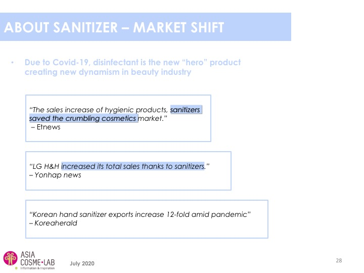 Asia Cosme Lab Hand sanitizers report extract 2