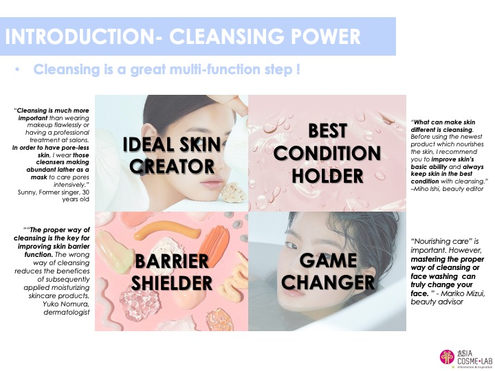 Asia Cosme Lab Cleansing luxury moment trend report extract 1
