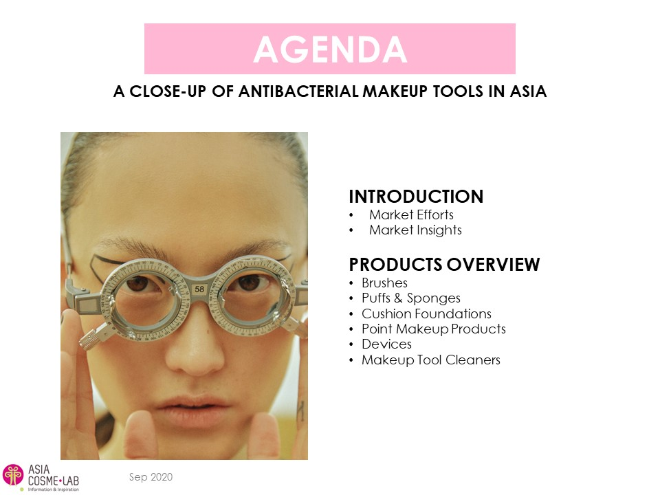 Asia Cosme Lab Anti-bacterial MU applicators report agenda